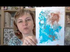 Монотипия в Микс Медиа Mixed Media декоре, панно коллаж: видео мастер класс Натальи Жуковой - YouTube