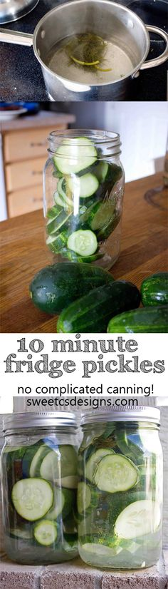 PP: 10 minute fridge pickles- these are SO easy to make and require no complicated canning! Get delicious pickles in a few easy steps!