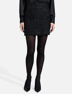 Party Tweed Mini Skirt from THELIMITED.com
