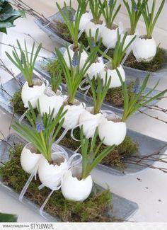 Der+NEUESTE+Trend+nach+den+Balloneiern+aus+Wolle……..+Eier,+die+mit+Instant-Spachtel+gebastelt+werden+können! Spring eastern egg decoration <3