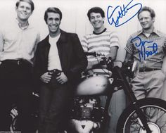 Don Most & Henry Winkler & Anson Williams Signed 11x14 Photo Happy Days Jsa In Many Styles Autographs-original