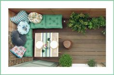 small balcony ideas//In my case, it's small porches, but you know, same difference. Decor, Diy On A Budget, Balcony Decor, Home, Patio Decor, Seating Area, Small Space Gardening, Home Deco, Refurbishing