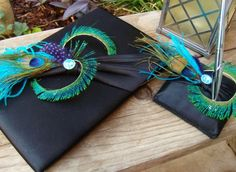 turquoise, black, & purple & peacock!!!!