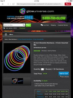 "22"" glow stick necklaces"