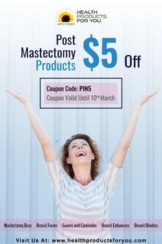 Buy post mastectomy products including breast cancer surgery bras, mastectomy breast forms, mastectomy swim wear and many more at discounted prices on HPFY! Breast Cancer Bras, Post Mastectomy Bras, Healthy Women, Products, Gadget