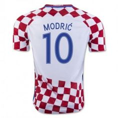 2016 Croatia Soccer Team Modric 10 Home Replica Jersey 2016 Croatia Soccer  Team Modric 10 Home Soccer jerseys b22b66378