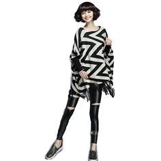 Morality Charm Black And White Cloak Shawls Female Batwing Coat at Amazon Women's Clothing store: