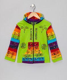 Another great find on #zulily! Green Rainbow Zip-Up Hoodie - Toddler & Girls #zulilyfinds