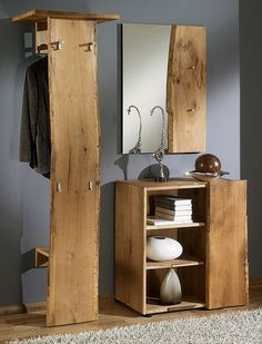 WOODLINE Cloakroom Set I Oak sawn – rustic design for the hallway The post WOODLINE Cloakroom set I Rough sawn oak – rustic … appeared first on Woman Casual - Home Inspiration Wood Furniture, Furniture Design, Decoration Entree, Coffee And End Tables, Wood Architecture, Bench With Storage, Decorating Blogs, Rustic Design, Ikea