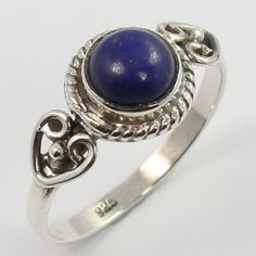 Ring Size US 6.5 Real LAPIS LAZULI Gemstone 925 Sterling Silver Wholesale Store #SunriseJewellers