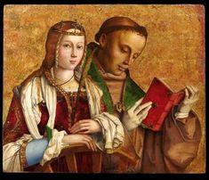 Francesco Zaganelli (1470ca.-1535 ca,) - Santa Caterina d'Alessandria e San Ludovico da Tolosa