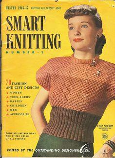 #vintage #1940s #knitting #fashion