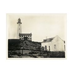 Montauk Point Light House | East Hampton Historical Society Archive |... via Polyvore