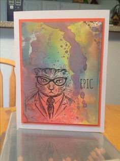 Loving the new Tim Holtz Ranger Distress Oxide Inks and Hipster Stamps. Love making cards.