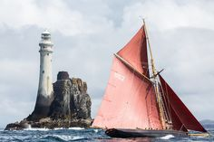 The Jolie Brise passing the Fastnet Rock, West Cork, Ireland. Photo: Brian Carlin Photo credit: © Brian Carlin