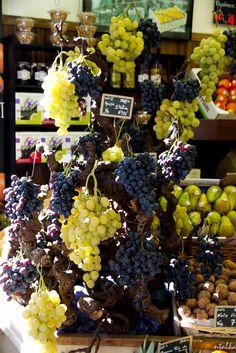 grapes at the market, Paris, France