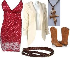 Fall Outfits with Cowboy Boots | FUEL: Outfit Inspiration: Red Dress