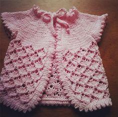 Receita de tricô traduzida : Sweater Baby Cherry Blossom » Tricotando Crochê