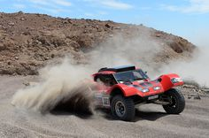 Bernard Errandonea and co-pilot Arnaud Debron of team SMG compete in stage 5 from Arequipa to Arica during the 2013 Dakar Rally on January 9, 2013 in Arequipa, Peru.