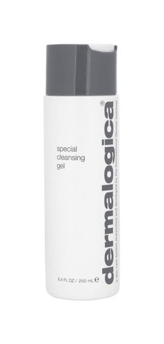 Dermalogica's soap-free Special Cleansing Gel with a botanical blend of Quillaja Saponaria and calming Lavender foams away impurities.