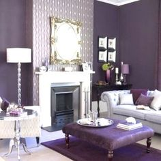 26 Best Purple And Grey Living Room Ideas Images