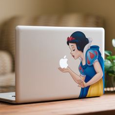 Disney Snow White MacBook Decal Sticker from DecalGirl (66 MYR) ❤ liked on Polyvore featuring accessories and disney