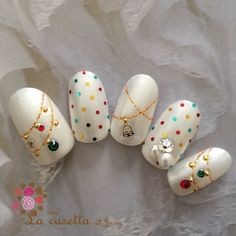 48 Amazing Nail Art Designs For Christmas Winter Nail Designs, Christmas Nail Designs, Toe Nail Designs, Christmas Gel Nails, Holiday Nails, Rhinestone Nails, Bling Nails, Nail Art For Kids, Cute Toe Nails