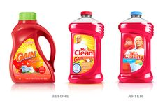 The Mr. Clean #plastic #packaging redesign is a holistic brand restage that leverages the Mr. Clean character's unique backstory and personality.