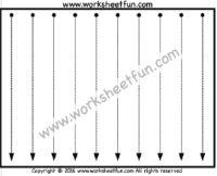 Vertical Line Tracing – One Worksheet
