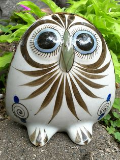 Vintage Ken Edwards Mexico Tonala Owl pottery by TheGIFTisToday on Etsy