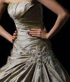 pewter gray wedding dress