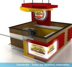 Islas para centro comercial - modulos comerciales - Estudio4d - Bogotá - Colombia Mall Kiosk, Ice Cream Art, Kiosk Design, Outdoor Cafe, Small Cafe, Bar, Stand Design, Business Goals, Kitchen Appliances