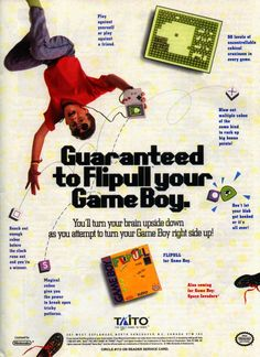 Flipull by Taito for the Nintendo Game Boy