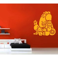 Bring home the blessing of Lord Ganesha and create a soothing environment in any room by installing this Ganesha Wall Decal. The artistic design and the trendy decor approach will give your space a touch of tradition along with keeping on line with modern