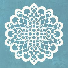 Lace Doily Stencils for DIY Christmas Snow and Winter Snowflakes
