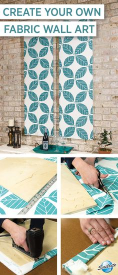 Create your own wall art for your outdoor patio space using fabric from Sailrite.