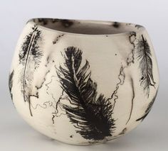 marion williams raku with feathers @sparklefaces