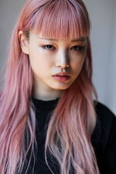midnight-charm: Fernanda Ly New Digitals June 2016 Hair Color Blue, Pink Hair, Rose Hair, Portrait Inspiration, Hair Inspiration, Corte Y Color, Aesthetic Hair, Grunge Hair, Dream Hair