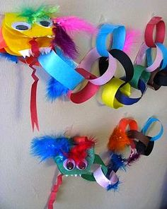 Paper chains seem simple... but they can be made into dragons. Or snakes. Or probably pretty much anything.