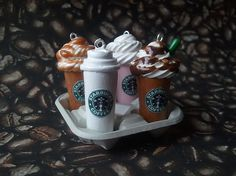 Starbucks coffee charms on Etsy.com  So cute!