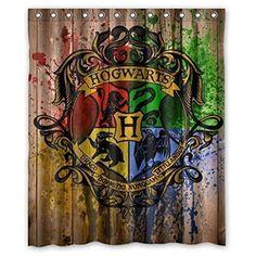 aac3f1ae09b Buy DEYOU Harry Potter Hogwarts Wood Logo Shower Curtain Polyester Fabric  Bathroom Shower