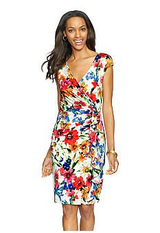 Lots of flowers, but it could be worth a try-on. Belk: American Living™ Floral-Print Ruffled Dress