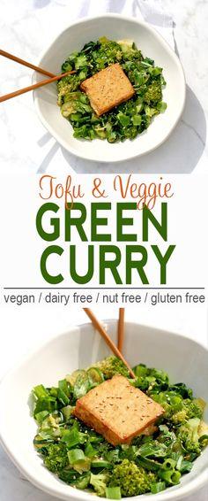 Green Curry | Vegan, Dairy Free, Gluten Free | From @V_Nutrition | www.vnutritionandwellness.com