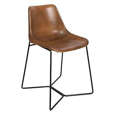 Preserve an undeniable style in your dining space with the Elma Leather Dining Chair, Tan from Casa Uno.