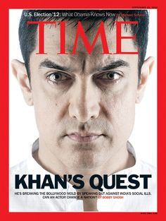 Aamir Khan becomes the first male Indian actor to have graved the cover of Time magazine. His debut Tv show Satyamev Jayate, in which he discussed, debated some of the social issues that are bothering the country and at times give solution to it. Bollywood Photos, Bollywood Stars, Bollywood News, Parveen Babi, Aamir Khan, Entertainment Video, Time Magazine, Magazine Covers, Influential People