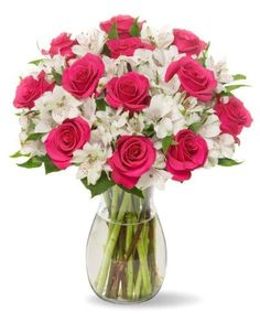 Your #1 Source for Grocery & Gourmet Food » 22 Long Stem Alstro-Rose Bouquet – With Vase