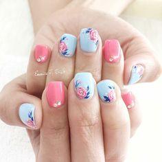 I gel nail designs, short nail designs, nail designs spring, flower nail de Flower Nail Designs, Short Nail Designs, Nail Designs Spring, Nails With Flower Design, Gel Nail Art Designs, Makeup Designs, Nails Design, Spring Nail Art, Spring Nails