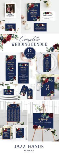 Burgundy Wedding Invitations, Wedding Invitation Templates, Wedding Stationery, Navy And Burgundy Wedding, Red Wedding, Navy Blue Wedding Theme, Navy Rustic Wedding, Wedding App, Wedding Themes