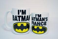 I'm batman and i'm batman's fiance,funny mugs,funny coffee mugs,personalised mugs,custom mugs,personalized mugs,personalized coffee mug