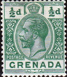 Grenada 1913 King George V Head SG 89 Fine Mint SG 89 Scott 79 Other British Commonwealth stamps here